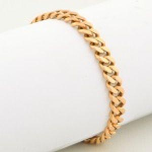 Pulseira de ouro 18 Kt, modelo grumete com 19 cm. Pesando 30 gramas.