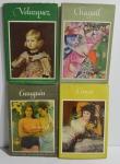 Conjunto 4 livros Welt in Farbe - Taschenbücher Der Kunst (Alemão): Paul Gaugin, Marc Chagall, Goya e Diego Velazques, 1954/1955