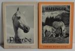 Conjunto 2 livros Haflinger von Robert Löbl 1958 e Pferde von Hubert Rudofsky 1960 (Alemão)