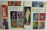 Conjunto Livros Les Merveilles du Louvre Tome I & II, Jean Charbonneaux, 1958, 351 pp.