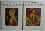 Conjunto Livros Cent Chefs-D`oeuvre du Musée du Louvre: École Française e Écoles Étrangères, René Huyghe, 1954, 240 pp.
