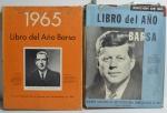 2 Livros Libro del Año Barsa: Anuario Ilustrado de los Sucesos más Sobresalientes de 1963 e 1964, Barsa Company, 1964 e 1965, 416 pp.