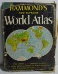 Hammond`s new supreme World Atlas, ano 1953, 176 pp., Garden City Books, com dedicatória com caneta em seu interior
