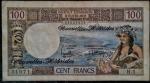 NOVA HÉBRIDAS 100 FRANCOS N/D ( 1975 ) - ADMINISTRAÇÃO BRITANICA E FRANCESA . VALOR ESTIMADO EM CATALOGO PARA MBC 50 DOLARES ( 290,00 REAIS )