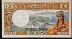 NOVA CALEDONIA 100 FRANCOS 1971 SOB / FE VALOR ESTIMADO EM CATALOGO 150 DOLARES ( 870,00 REAIS )
