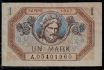 SARRE 1 MARK 1947 FLOR DE CUNHO. DIFÍCIL NESSE ESTADO . VALOR ESTIMADO EM CATALOGO PARA FE 210 DOLARES ( 1.218,00 REAIS )