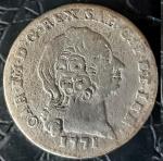 SARDENHA 1 REALE 1771 ( ESTADO ITALIANO )  PRATA .500%  3,27 GRAMAS, 23 MM . VALOR ESTIMADO EM CATALOGO PARA MBC 450 DOLARES ( 2.610,00 REAIS ) BC 190 DOLARES ( 1.102,00 REAIS )