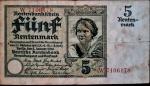 ALEMANHA 5 RENTENMARK 02 DE JANEIRO DE 1926 VALOR ESTIMADO EM CATALOGO PARA MBC 100 DOLARES ( 580,00 REAIS )