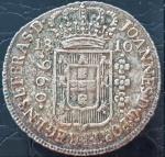 BRASIL 960 REIS 1810 PRATA .896% 27 GRAMAS, 40 MM . CASA DA MOEDA DA BAHIA . MOEDA BASE E VARIANTE PARA ESTUDO .