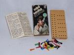 Antigo jogo Mini Senha, década de 80, manufatura GROW. Caixa com avarias. 13x 6 x 2cm