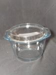 Caldeira caçarola em vidro refratário. Manufatura MARINEX, 3 litros. 18 x 27cm