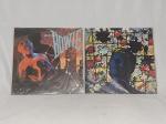 """LP (2) - David Bowie, """"Let's Dance"""", 1983; e """"Tonight"""", 1984."""