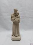Imagem de Santo Antonio com menino Jesus  em pó de mármore. Medindo: 22 cm de altura.