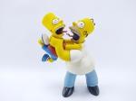 Action Figure Homer e Bart Simpson serie 1 - Manufatura MC Farlane, medindo 11 cm de altura - The Simpsons, obs: faltando Base, item muito bem conservado. conforme fotos