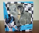 Action Figure Black Rock Shooter em sua caixa e acessórios, Manufatura GoodSmile Company, Medindo 20 cm de altura, Obs: Caixa contem alguns desgastes, conforme fotos