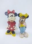 Floc - 2 Bonecas sendo Miney da década de 90 - Disney, manufatura Floc, maior medindo 13,5 cm de altura, conforme fotos