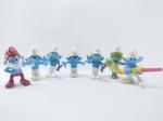 Coleção de 7 Bonecos do Filme  Smurfs sendo do Mc Donals do ano de 2011, maior medindo 8 ccm de altura, conforme fotos