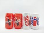Promocionais - Coleção de 4 Itens da Coca Cola e Pepsi sendo 2 Paliteiros e 2 Saleiros de Mesa, conforme fotos