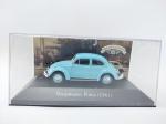Miniatura Volkswagen Fusca - 1961 em seu acrílico, coleção carros Inesquecíveis do Brasil escala 1/43