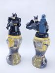 Batman - 2 Garrafas do Suco Belly Washers - 3º edição representando Batman, medindo aprox. 20 cm de altura, obs: Garrafas vazias