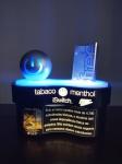 Luminoso de Mesa Promocional Cigarro Free - Tabaco Menthol em sua caixa, funcionando, medindo 21x23 cm, Manufatura Made Metal