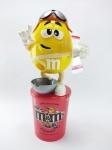 M&M - Dispenser do Chocolate M&m´s com tema de Aviador, acompanha base, medindo 21 cm de altura, obs: Está vazio