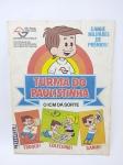 Álbum de Figurinhas sendo Turma do Paulistinha da década de 80, Completo, com riscos de canetas, conforme fotos