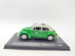 Miniatura sendo Volkswagen Beetle (Fusca) - Taxi México D.F - 1985 Em sua base, miniatura medindo 9 cm de comprimento
