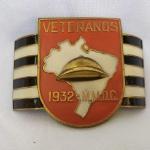 MILITARIA (R06) - BRAÇADEIRA em metal usada em desfiles Patrióticos por Veterano que lutou na Revolução Constitucionalista de 1932.