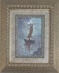 ANGELO CANNONE - Quadro em o.s.e. titulado barco de pesca, assinado no c.i.e. ,  med. 27 x 23 com moldura, 15 x 20 sem moldura.