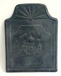 BRASÃO DO IMPÉRIO BRASILEIRO - Belíssima e antiga placa em ferro forge representando símbolo do império sec. XIX, med. 60x 40