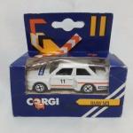 CORGI BMW M3, de rallye, Nr 11, logo Pionner e Total,  1984, 7 cm, na embalagem original
