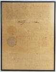 Patente de nomeação. Assinada pelo Imperador D. Pedro II, com brasão oficial do Império e registrado em 23 de Janeiro de 1867.