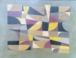 Samson Flexor (1907-1971). COMPOSIÇÃO. 1953. Óleo sobre cartão. 40 x 54 cm (mi); 52 x 63 cm (me). Assinado e datado (cie)..