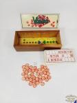 Jogo De Loto / Bingo /  marca Vispora caixa em madeira  decada de 70.. INCOMPLETO Medida da caixa 28cm x11,5 cm x7 altura