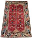 Antigo e belíssimo Tapete persa no tom predominante vermelho. Med. 300 x 196 cm= 5,88 m2.