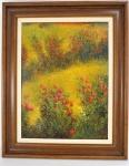 """LUIZ FERNANDO MONDEGO (1948) """" Flores"""", óleo sobre tela, ricamente emoldurado, assinado no C.I.E. Med. 61 x 46 cm."""