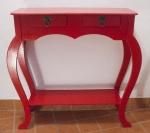 MÓVEIS - lindo aparador em MDF pintado de vermelho, necessita reparos na pintura. Med.: 81x87x26 cms.