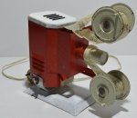 Projetor de cinema de lata filme em papel