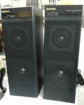 Par de Caixas acústica amplificada Gradiente SAS-30 anos 80, preta, 110/220V, não testadas