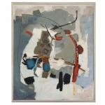 Maria Polo (1937-1983). Abstrato. Óleo sobre tela. Assinado, cid e datado 1965. 157 x 125 cm. Mínimas falhas.