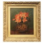 Anita Malfatti (1889-1964). Vaso. Óleo sobre tela. Assinado, cid. 55 x 75 cm.