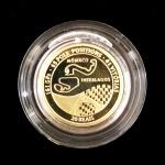 Moeda em ouro comemorativa. Ayrton Senna. 1995. 8 gramas.