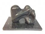 Victor Brecheret (1894-1955). Boi. Importante escultura em bronze com base em granito. Assinado. 20 x 28 sem a base e 40 x 23 cm com a base.