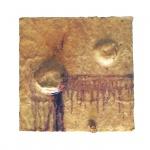 Carlito Carvalhosa (1961-2021). Sem Título. Cera sobre madeira. Assinado no verso. 30 x 30 cm.