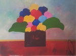 Aldemir Martins (1922-2006). Vaso com Flores. Acrílica sobre tela. Assinado, cie e datado 2000. 60 x 80 cm. Acompanha certificado de autenticidade.