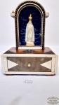 Oratorio caixa de musica  com imagem Nossa Sra de Fatima . Medida 23,05 cm de altura x 17 cm. A caixa de musica nao esta funcionando