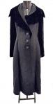 EMPÓRIO ARMANI - EX-COLEÇÃO SCARLET MOON DE CHEVALIER - Elegante sobretudo italiano com mangas e gola em veludo negro e tecido seda com ryon. Em perfeito estado. Número 46 da Itália. Med. 134 cm comprimento, Manga 62cm Ombro 42 cm.