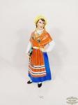 Antiga Garrafa Vinho Representando  camponesa em Porcelana Vista Alegre.  portuguesa .Medida: 28 cm altura