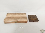 Lote  Antigas  Caixas Porta Maquiaquem em Metal Dourado. Medida: 15,5 cm x 10 cm e 7 cm x 7 cm